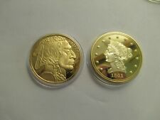 Two Proof Medallions w/ capsules, look like old Us Gold Coins