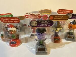 Solar Power Holiday Themed Dancing Toys Halloween Christmas Thanksgiving Spring