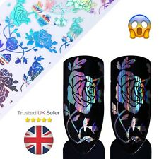 Holo Rose Flower Starry Nail Art Foil 4*20cm Transfer Foil Stickers Manicure DIY