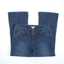 Sussan Blue Faded Wide Leg Stretch Denim Jeans Women's Size 14