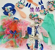 Vtg 1991 Teen Talk Barbie Lot Accessories Doll Clothes Shoes Skirt Jacket Hat
