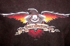 Harley Davidson Mens T Shirt Size XL Bald Eagle Short Sleeve Milwaukee WI Black