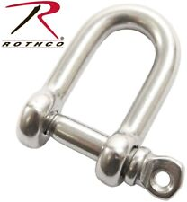 "Stainless Steel D-Shackle 5/32"" With Screw For Paracord Bracelets 242 Rothco"