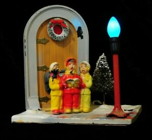 Vintage Light Up, Wind Up Musical Christmas Decoration
