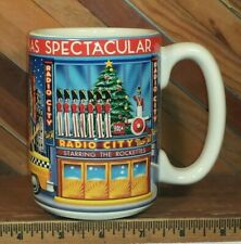 Radio City Christmas Spectacular Starring The Rockettes Vintage Embossed Mug Cup