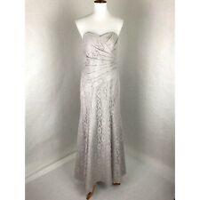 Alfred Angelo Disney Wedding Formal Dress Size 10 Gray Lace Mermaid Sweetheart