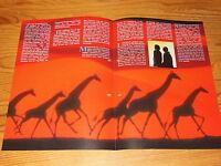 LAID BACK - HOLE IN THE SKY / ARIOLA PROMO-HEFT (DINA-4) 1990