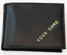 Man's wallet PERSONALISED WITH ANY NAME cows leather FREE P&P available QUALITY