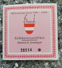 1 x Österreich 500 Schilling Gold 1996 Heinrich II Echtheitszertifikat