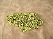 """250 Bright Brass Upholstery tacks Nails 7/16"""" Round Dome Head 1/2"""" Shank"""