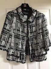 Chanel 07C MOST WANTED LESAGE BLACK ECRU TWEED LACE Jacket CC buttons FR42 $6K