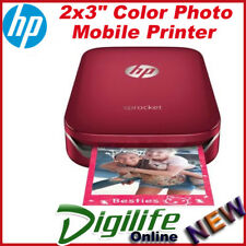 HP Sprocket Photo Printer for Mobile Smartphone Rechargeable Battery Z3Z93A RED