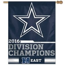"DALLAS COWBOYS 2017 EAST DIVISION CHAMPIONS 27""X37"" BANNER VERTICAL FLAG NEW"