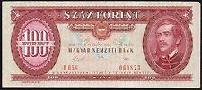1989 Ungheria 100 FIORINO BANCONOTA * 060873 * VF + * p-171 *
