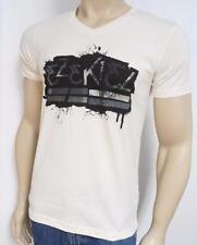Ezekiel Grafitti Off White V Neck100% Cotton Tee Mens T-Shirt New NWT Mens Small