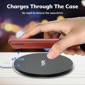 Qi Fast Wireless charger, 10W, For iPhone, Android QI Enabled Devices.