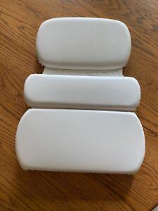 Gorilla Grip Spa Bath Pillow Comfortable Soft, Large Luxury 3 Panel Design White