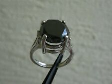 5.50ct NATURAL BLACK DIAMOND RING w/ APPRAISAL* FREE DIAMOND TESTER* SIZE 6 REAL