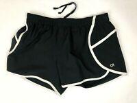 GapFit Womens XS Black White Athletic Quick Dry Short Shorts - Liner, Drawstring