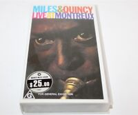 Miles & Quincy Live At Montreux VHS Video 1991 New