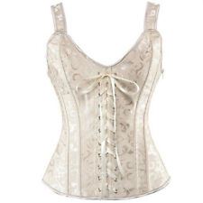 US Women Bridal Corset Crop Top Waist Training Bustier Plus Size Overbust Basque