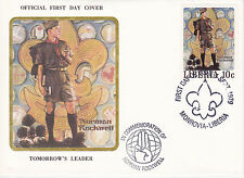 1979 Liberia Scouting / Norman Rockwell Commem.Fdc Cover - Tomorrow'S Leader