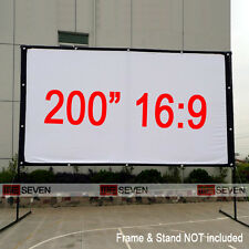 """200"""" 16:9 Projection Screen Curtains Film for Home Theater Outdoor Hd Projectors"""