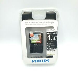 """Philips GoGear Vibe 4 GB Portable MP3 Video Player with 1.5"""" Color Screen NEW"""