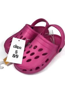 NEW Girls Circo Hot Pink Clogs Water Shoes Sandals Size Small 8/9 NWT