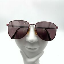 Vintage Marble Burgundy Metal Oval Sunglasses FRAMES ONLY