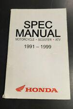 Oem Honda Spec Manual Motorcycle Scooter Atv 1991-1999 Used