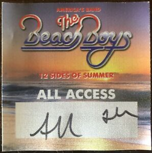Beach Boys 2020 12 Sides Of Summer Tour Satin Backstage Pass All Access