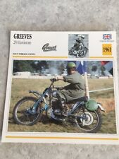 Greeves 250 Hawkstone motocross 1961 Carte moto Collection Atlas UK