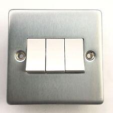 Crabtree 6173/SC 3 Gang 2 way Light Switch Satin Chrome
