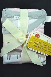 Pottery Barn Kids Girls Winter Reindeer Pajamas Size 8T Pink #31