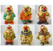 Lot of 6 x Clown Oddbods - NIB - Hard Body Figurines - MPS Harmony Kingdom