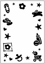Crafts-Too Embossing Folder - Baby Frame : CTFD3041