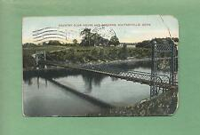 COUNTRY CLUB HOUSE, BRIDGE At WHITNEYVILLE, CT On Vintage 1910 Postcard