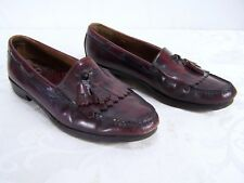 GH Bass & Co Brown Red Leather Kiltie Penny Loafers Shoes Mens 10 D Fit 9.5 / 10