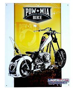 Choppers Biker Schild Motorrad Poster classic Pow Mia custombike Garage *773