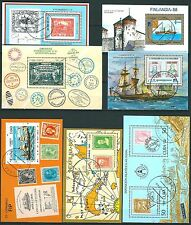 Große Antillen: 13 Blocks Filatelica Mundial 1977-88, gest.