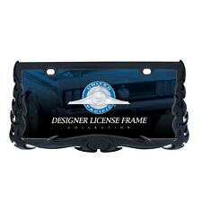 Black Flame License Plate Frame