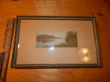 INDIAN SUMMER CHARLES SAWYER FRAMED HAND TINTED COLORED VINTAGE PICTURE SIGNED
