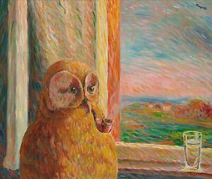 """RENE MAGRITTE Surrealism Art Poster or Canvas Print """"La Somnambule"""""""