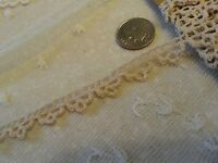 """Antique Lace Trim French German Doll Clothes Sewing Edging 1 yard 17"""""""