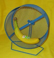 """8.5"""" Blue Metal Exercise Wheel Hamster Rat Wingnut Attach to Cage or Stand"""