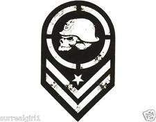 "Metal Mulisha BATALLION 6"" STICKER DECAL AUTO Moto-X FMX RACE ARMY SKULL"