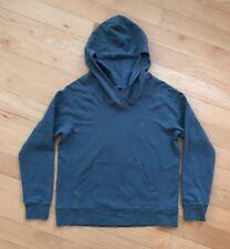 PATAGONIA Hoody Sweatshirt Women's M Organic Cotton Blue Crossover Neck Pleated