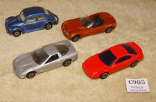 4x VINTAGE MAISTO DIECAST VEHICLES VW 1300 BEETLE DODGE 99 MUSTANG '97 CORVETTE