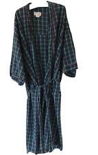Wraps Cotton Seersucker Robe, Blue Plaid, One Size